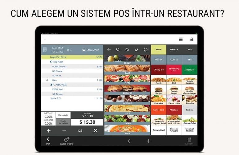 Cum alegem un sistem POS într-un restaurant?